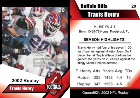 2002 - Travis Henry Card