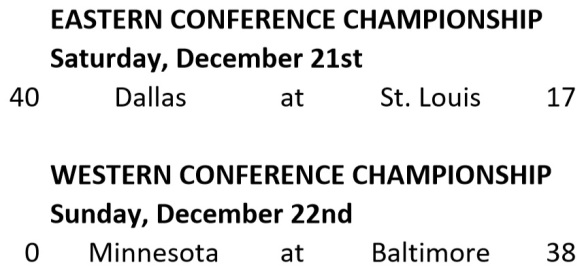 NFL Conference Championship Results
