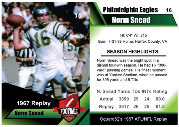 1967 - Norm Snead Card