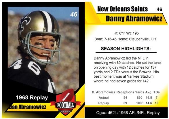 1968 - Danny Abramowicz Card