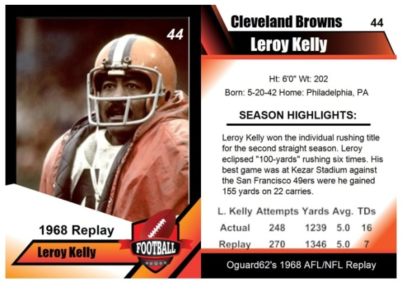 1968 - Leroy Kelly Card