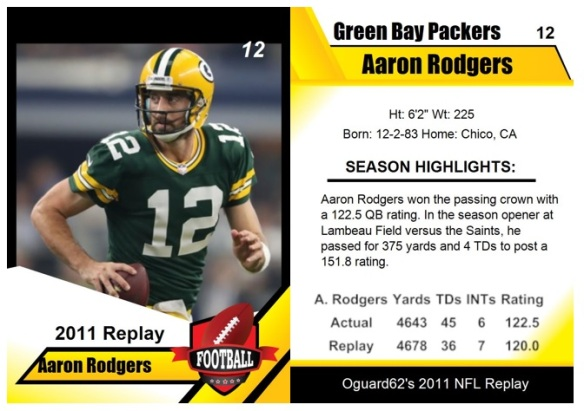2011 - Aaron Rodgers Card