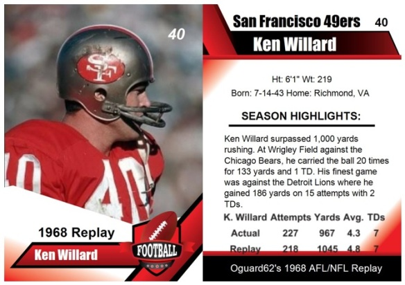 1968 - Ken Willard Card