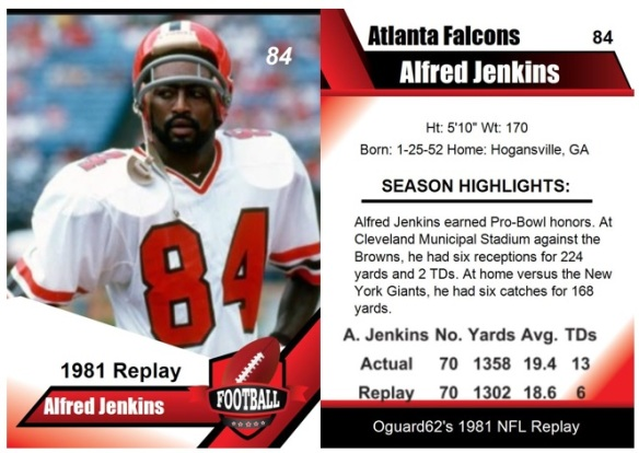 1981 - Alfred Jenkins Card
