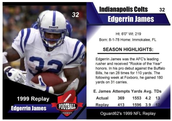1999 - Edgerrin James Card