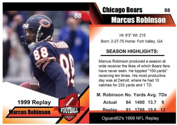 1999 - Marcus Robinson Card