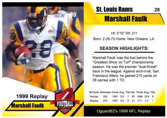 1999 - Marshall Faulk Card