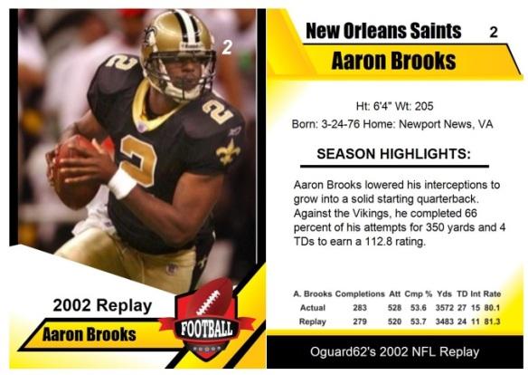 2002 - Aaron Brooks Card