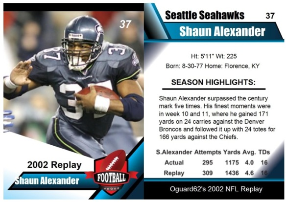 2002 - Shaun Alexancer Card