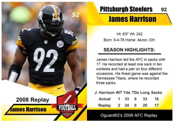 2008 - James Harrison Card