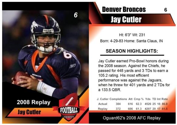 2008 - Jay Cutler card