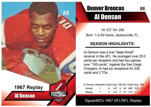 1967 - Al Denson Card