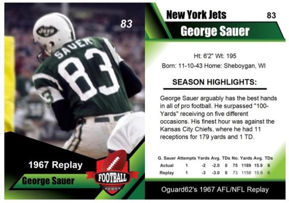 1967 - George Sauer Card