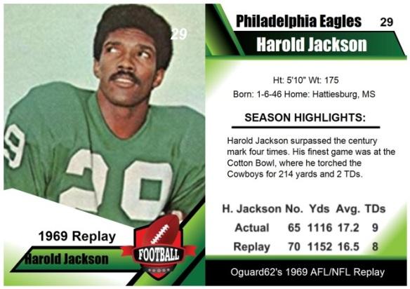 1969 - Harold Jackson Card