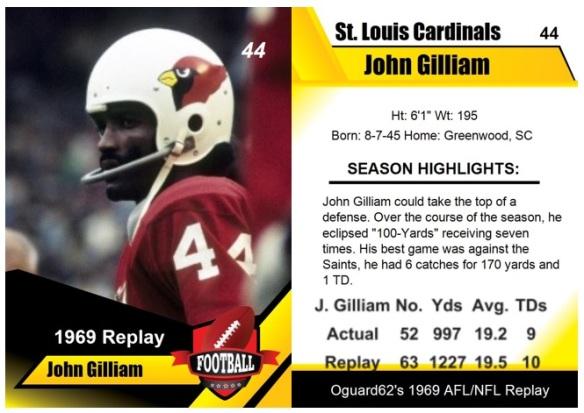 1969 - John Gilliam Card