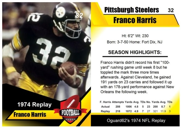 1974 - Franco Harris Card