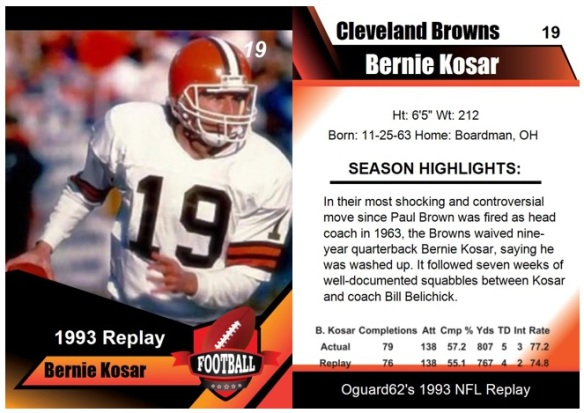 1993 - Bernie Kosar Card