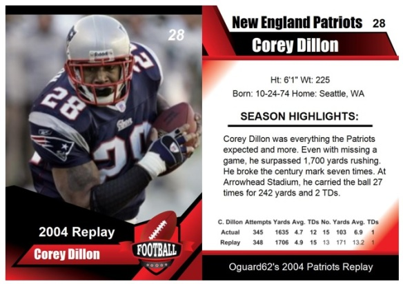 2004 - Corey Dillon Card