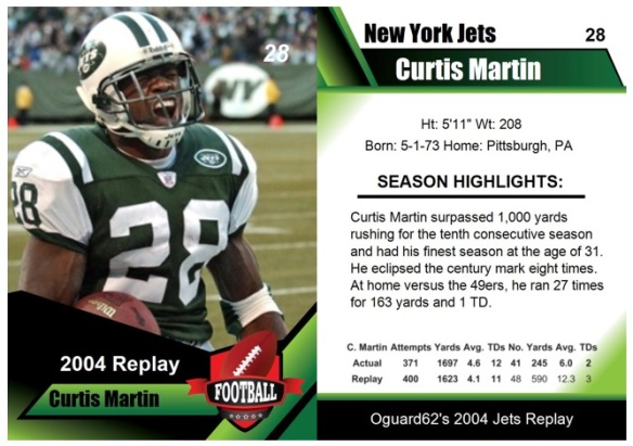 2004 - Curtis Martin Card