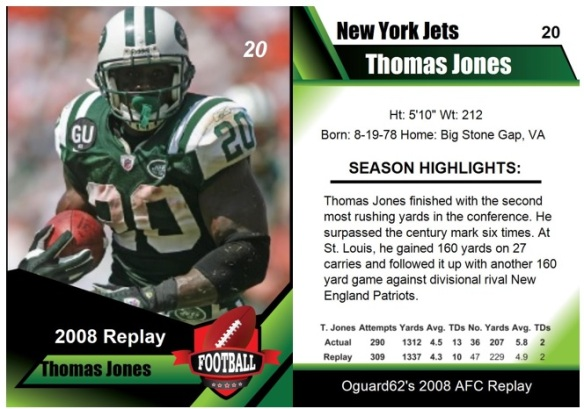 2008 - Thomas Jones Card