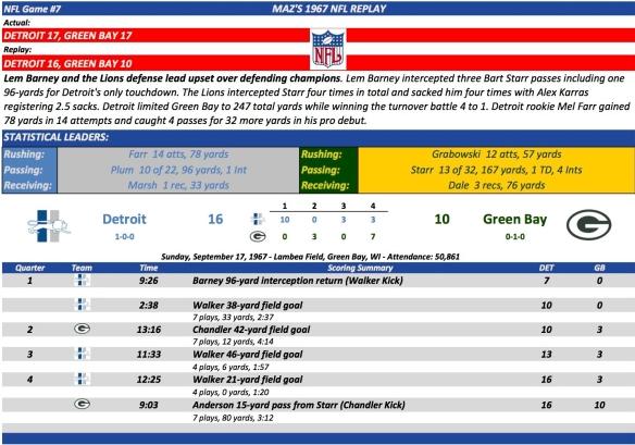 NFL Game#7 Det at GB