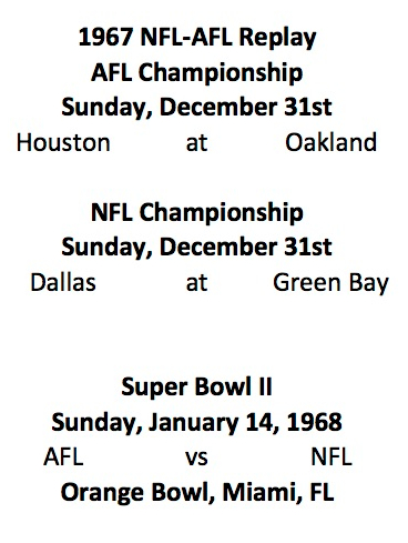 AFL and NFL Upcoming Schedule